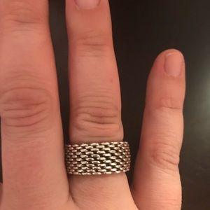 Tiffany and Company mesh silver ring